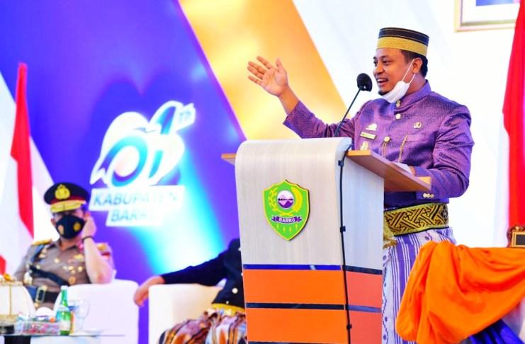 HUT Barru ke-61: PLT Gubernur Sulsel Menekankan untuk Perhatikan Masalah Stunting