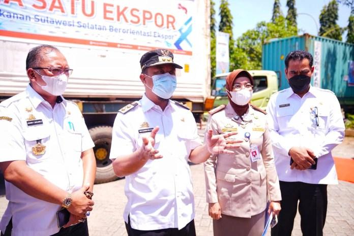 Lepas Ekspor senilai Rp97 miliar, Plt Gubernur Sulsel Tegaskan Pemprov Terus Dukung Upaya Ekspor Komoditi Laut