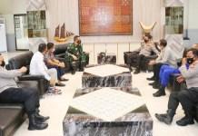 Kapolda Sulsel Terima Kunjungan Silaturahmi Danlanud Sultan Hasanuddin