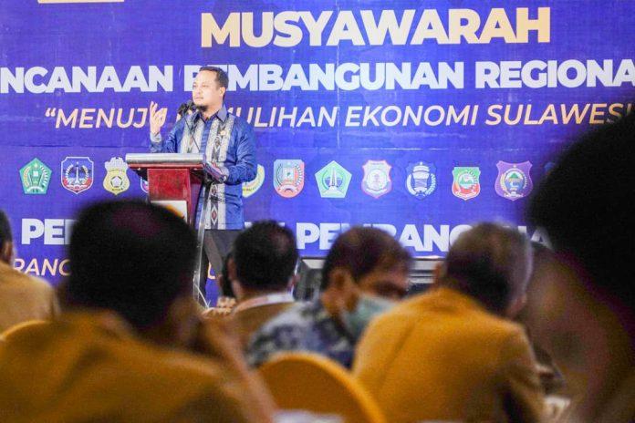 Hadiri Musrenbang Regional Sulawesi, Plt Gubernur Sulsel Paparkan Usulan Program Prioritas Sulsel 2022