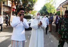 Shalat Idul Fitri di Belakang DPRD, Fatmawati Tak Bosan Ingatkan Protokol Kesehatan