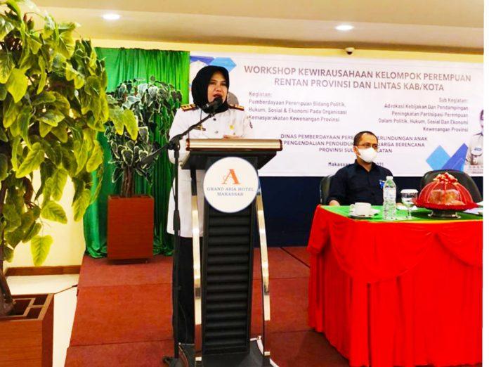 DP3A Dalduk KB Sulsel Berikan Pelatihan Kewirausahaan bagi Perempuan Rentan