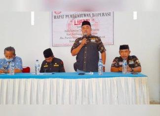 Rapat pembentukan Koperasi LIPAN Indonesia