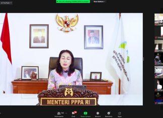 Bintang Puspayoga Menteri Pemberdayaan Perempuan dan Perlindungan Anak (PPPA)