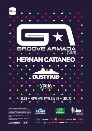 The Mission: Groove Armada (DJ set), Hernan Cattaneo, Dusty Kid @ RomExpo