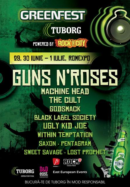 OFICIAL Guns N'Roses, Machine Head, Godsmack, The Cult, Ugly Kid Joe vin la Rock The City 2012