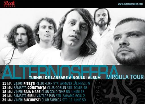 """Alternosfera - Programul turneului de lansare a noului album """"VIRGULA"""""""