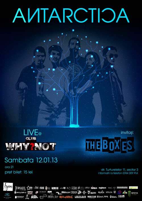 Concert Antarctica pe 12 ianuarie in Club Why Not, invitati The Boxes