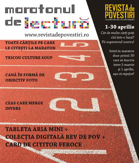 Revista de Povestiri lanseaza in Bucuresti Maratonul de lectura / Cate carti poti citi intr-o luna?