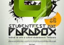 Organizaţia Studenţilor din Universitatea de Vest din Timisoara – OSUT organizeaza festivalul de arta si cultura studenţeasca, StudentFest in perioada 11-20 aprilie.