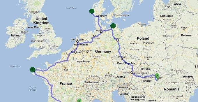 Euroseas on the wheels este pagina proiectului unei echipe bucurestene de biciclisti, Paul Barbelian si Dan Halanga, care va atinge 4 mari europene in numai 60 de zile, pedaland 5800 de kilometri.