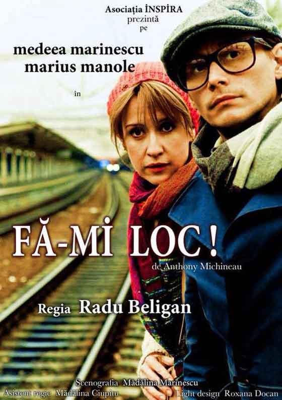 """Spectacolul """"Fa-mi loc!"""" este prima productie teatrala realizata de Asociatia INSPIRA, care a avut premiera pe 27 octombrie 2012 la cafeneaua din Centrul Vechi, spectacolul avand in prezent peste 30 de reprezentatii la nivel national."""