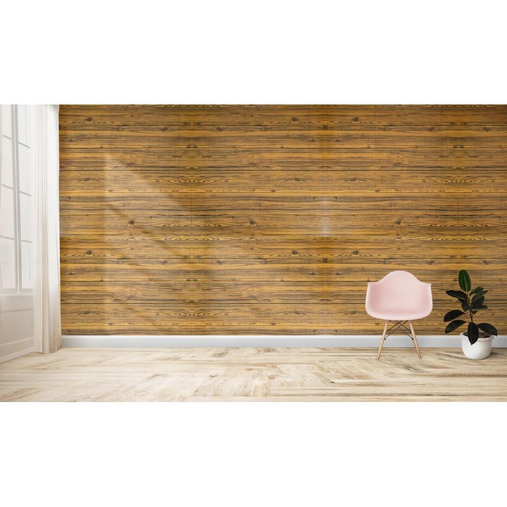965471 papier peint effet 3d bois fonce souple en pe amortit sons et chocs