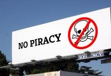 No Piracy billboard