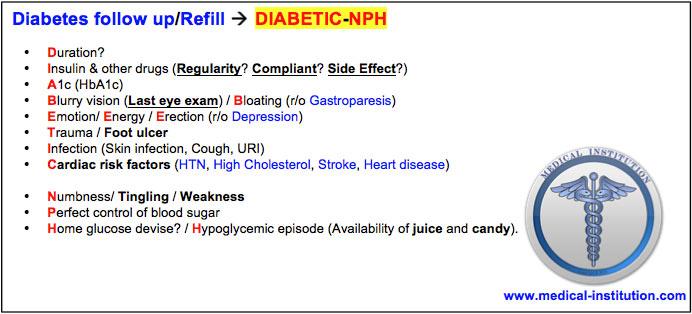 Diabetes Follow Up Mnemonic - BEST USMLE Step 2 CS Mnemonics