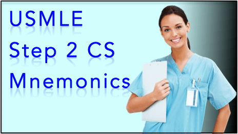 Best USMLE Step 2 CS Mnemonics - Easy CS Mnemonics