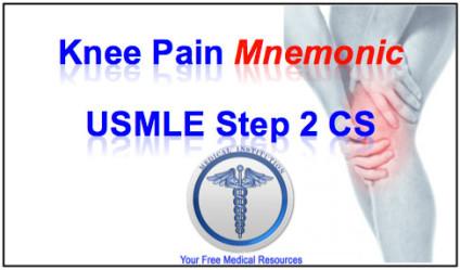 Knee Pain Mnemonic - BEST USMLE Step 2 CS Mnemonics