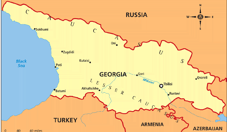 MBBS in Georgia - Location Map