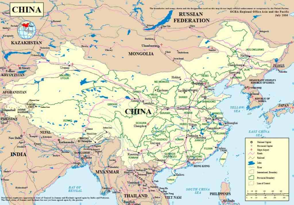 Geogrphical Map of china