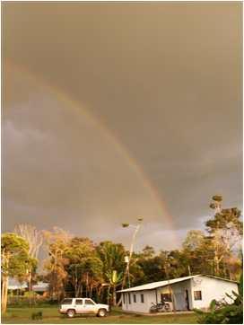 Arco-íris sobre a casa de Norton na Venezuela