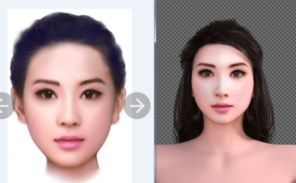 3D Chinese female model