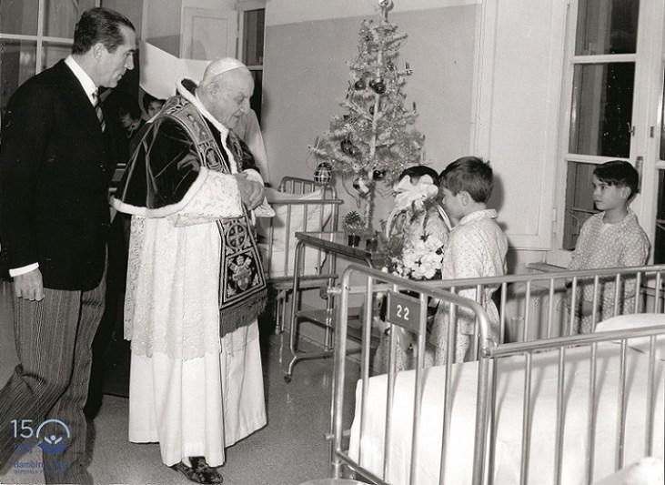 Papa Giovanni XXIII con il Presidente Pacelli - 1958