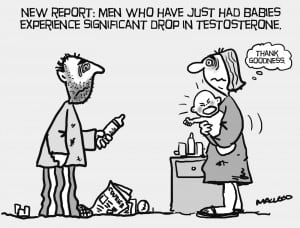 Testosterone and Babies Cartoon
