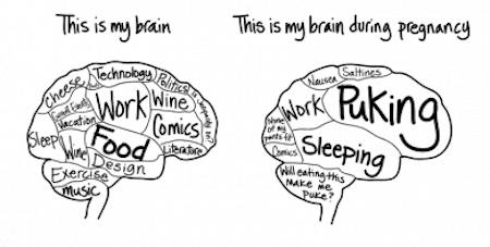Pregnancy Brain Cartoon