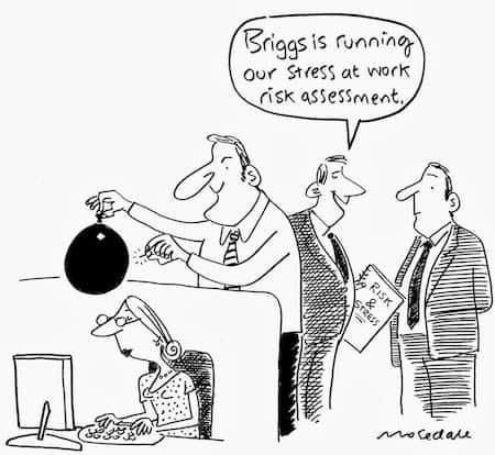 Stress at Work Assessment Cartoon