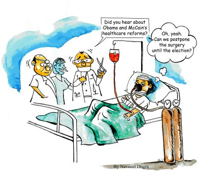 Surgery and Healthcare Funny Cartoon