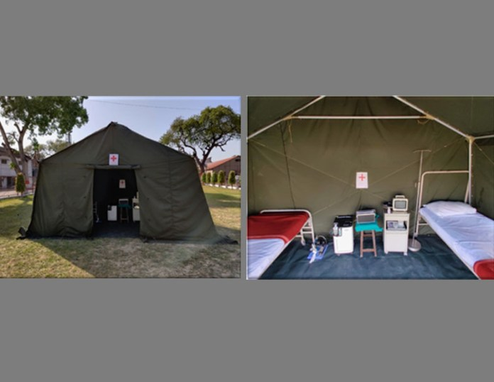 Ordnance Factory Board unveils isolation tents