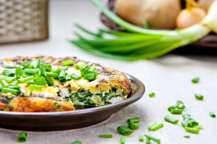 Omelet with chives