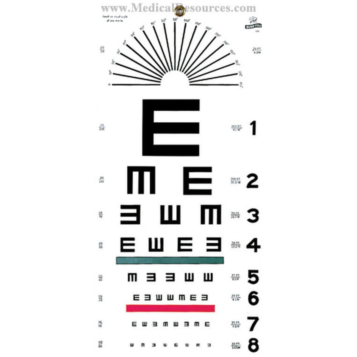 Graham Field Illiterate Eye Test Chart