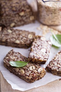 Healthy multigrain bread with oats, nuts and seeds