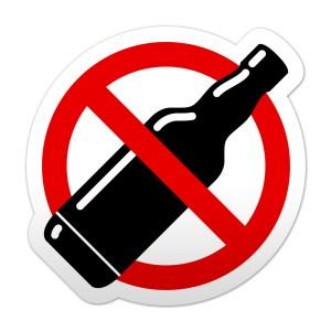 Pegatina simbolo prohibido alcohol