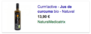 Jus de Curcuma BIO sur NATURAMedicatrix