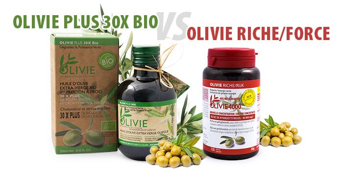Quelles différences entre Olivie Plus 30x & Olivie Riche?