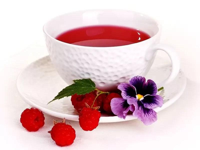 Chá de framboesa