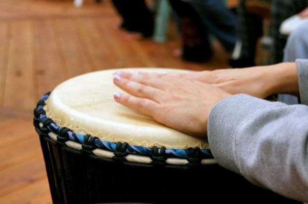 Close Up Woman Drumming