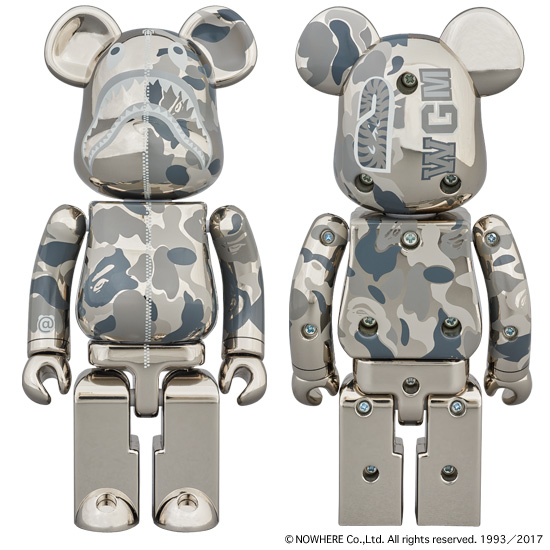 超合金 ABC CAMO SHARK BE@RBRICK SILVER