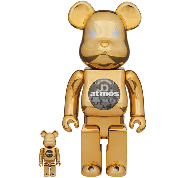 BE@RBRICK GOLD CHROME 100% & 400%