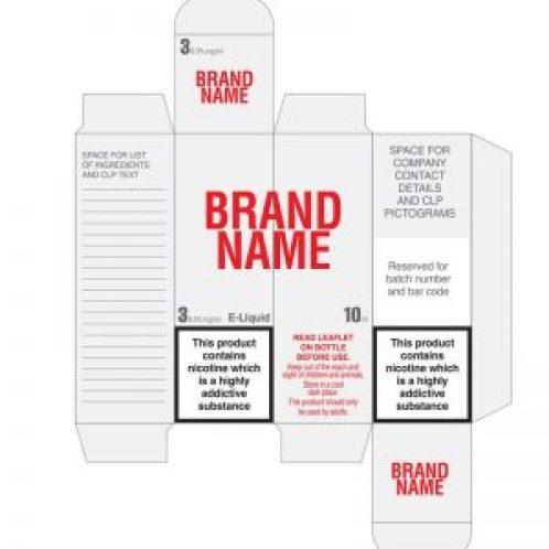 e-liquid warning label