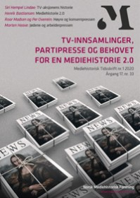Forside, Mediehistorisk tidsskrift nummer 1, 2020 (33)