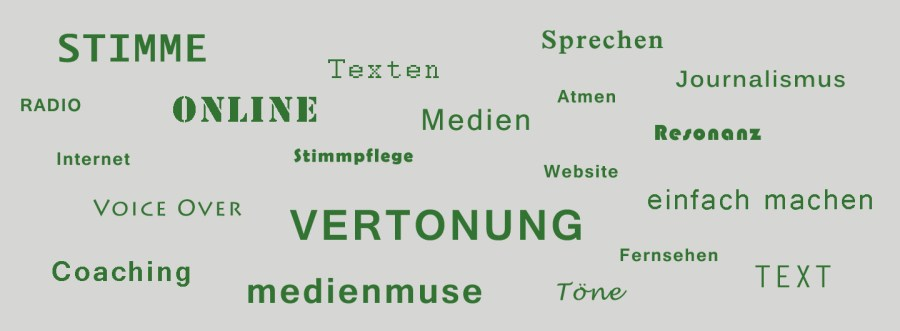 Stimme Vertonung Radio Sprechen Journalismus Atmen medienmuse Töne Text Internet Website Resonanz VoiceOver
