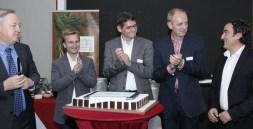 """Die """"Macher"""" des Medientages: Moderator und Organisator Gerhard Rettenegger (ORF Salzburg), Oliver Wagner (ITG), Hilmar Linder (FH Salzburg), Siegfried Reich (Salzburg Research), Herbert Stranzinger (Salzburg AG)"""