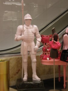 The Pink Knight of Macy's