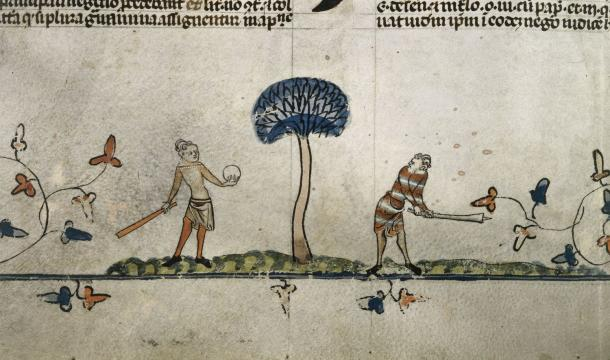Men playing a game Royal 10 E.IV, f.94v
