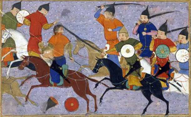 mongols and horses