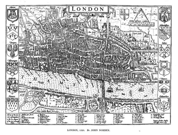 John Norden's map of London 1593