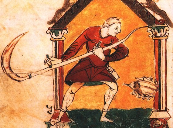 Peasant depicted in the 9th century